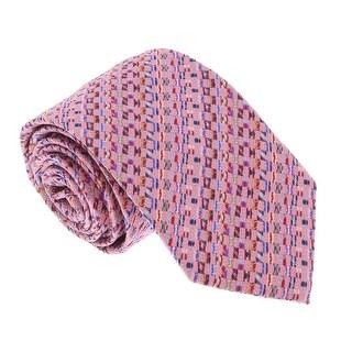 Missoni U5281 Pink basketweave 100% Silk Tie - 60-3