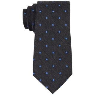 Michael Kors NEW Black Blued Men's One Size Balanced Dot Neck Tie
