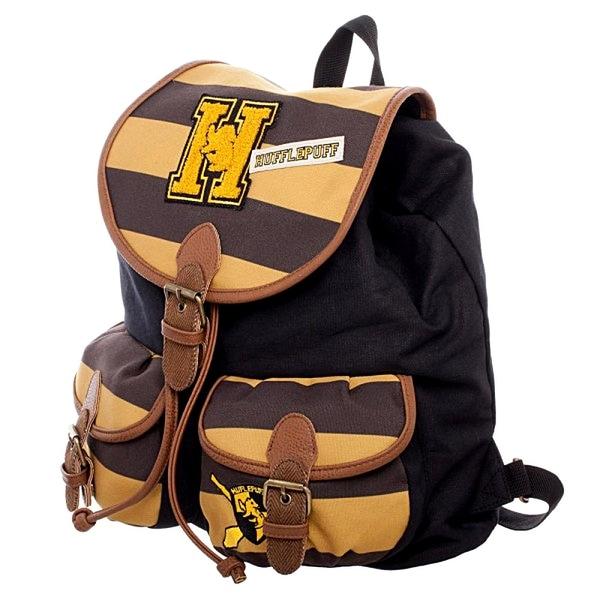 b757e4e0b551 Shop Harry Potter Hufflepuff Varsity Knapsack Backpack 14 x 17in ...