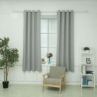 "Hello Laura- Triple Weave Thermal Insulated Blackout Grommet Window Curtain 53"" x 63"""