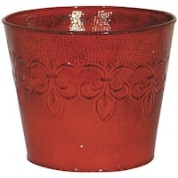 "Robert Allen 6"" Cyn-Red Metal Planter"