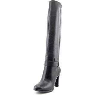 Enzo Angiolini Sumilo Women Round Toe Leather Black Knee High Boot