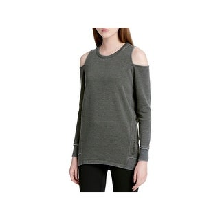Calvin Klein Performance Womens Sweatshirt Cold Shoulder Active