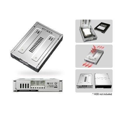 """Icy Dock Ezconvert Pro Mb982sp-1S Enterprise 2.5"""" To 3.5"""" Sata Ssd & Hdd Converter / Mounting Kit"""