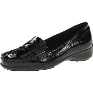 Trotters Womens Zell Patent Leather Moc Toe Loafers