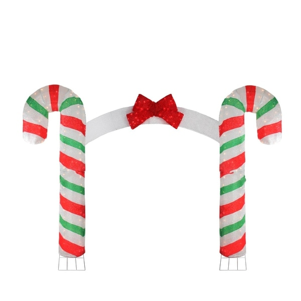 Pre-Lit Candy Cane Lane Christmas Archway - 10' x 7'