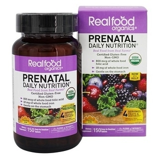 Country Life Vitamins Prenatal Rfo Organic Larger Size 150Tb 150 Tablet
