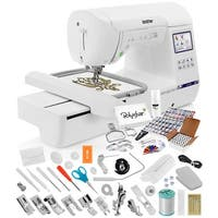 Brother SE1900 Sewing and Embroidery Machine w/ Grand Slam Package Includes 64 Embroidery Threads + Prewound Bobbins + More