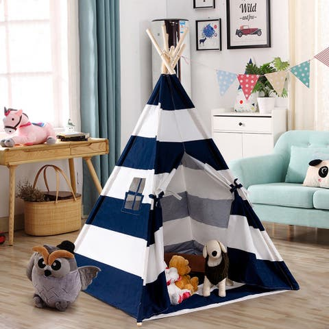 Gymax Portable Play Tent Teepee Children Playhouse Sleeping Dome