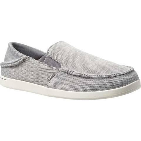 Reef Men's Cushion Bounce Matey Knit Slip-On Light Grey Polyester