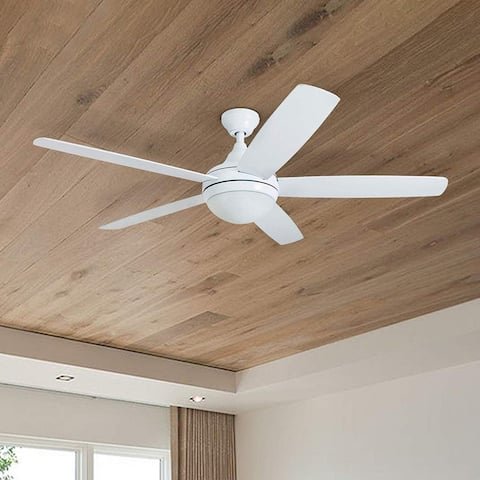 Copper Grove Mills 52-inch Modern White LED Ceiling Fan with Remote