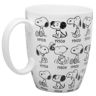 Link to Department 56 Peanuts Snoopy Mug - 65th Anniversary Collector's Edition Coffee Cup - White - 5 in. x 5 in. x 5 in. Similar Items in Dinnerware