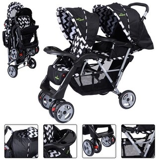 Foldable Twin Baby Double Stroller Kids Jogger Travel Infant ...