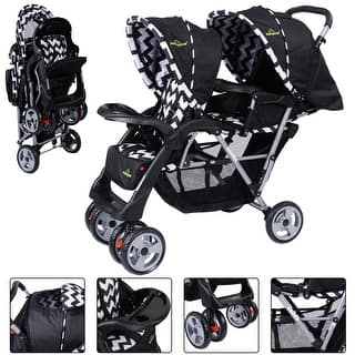 Foldable Twin Baby Double Stroller Kids Jogger Travel Infant Pushchair Black|https://ak1.ostkcdn.com/images/products/is/images/direct/aae0c7f0c141d5c48eb3457e211d08ccf44dcab8/Foldable-Twin-Baby-Double-Stroller-Kids-Jogger-Travel-Infant-Pushchair-Black.jpg?impolicy=medium