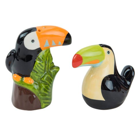 Tropical Toucans Pretty Birds Salt and Pepper Shaker Set