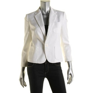 Polo Ralph Lauren Womens Cotton Lined One-Button Blazer - 4