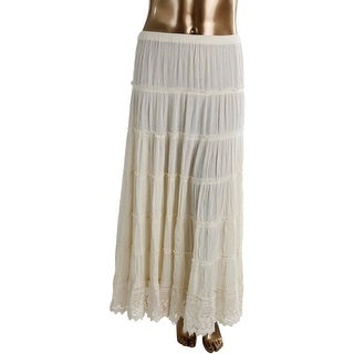 Denim & Supply Ralph Lauren Womens Knit Tiered Maxi Skirt