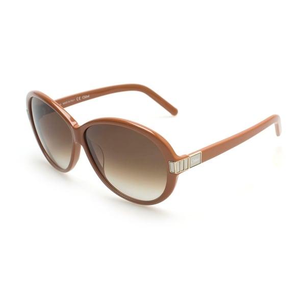 Chloe Women's  Square Glam Girl Sunglasses Brown - Small