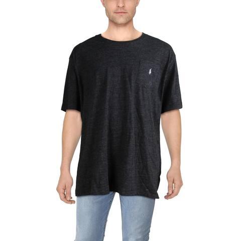Polo Ralph Lauren Mens Big & Tall T-Shirt Cotton Crewneck - Black Heather - 2LT