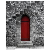 ''Red Door Under the Stairs'' by Anon Photography Art Print (14.5 x 11.5 in.)