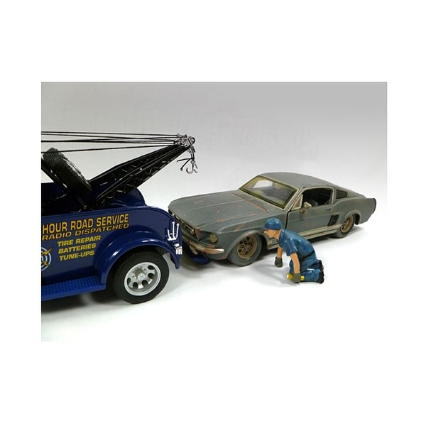 1 65 Alloy Toy Cars Model American Style Transporter Truck: Shop Tow Truck Driver/Operator Scott Figure For 1:24 Scale