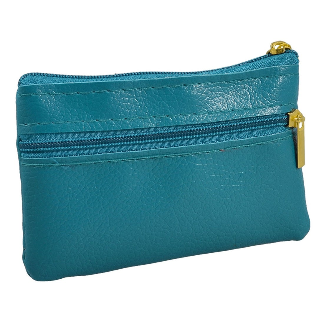 Mini Taupe and Teal Coin Pouch