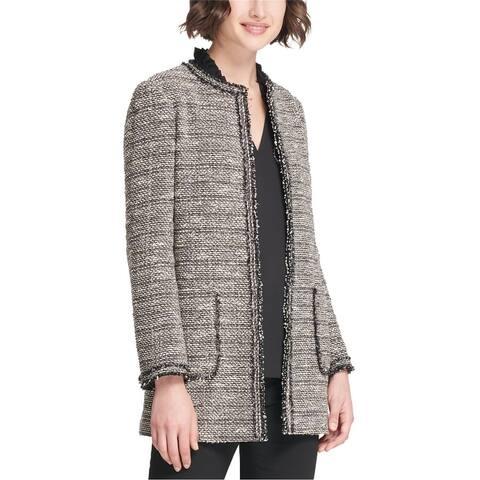 Dkny Womens Collarless Jacket