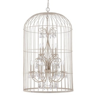 "Craftmade 38412 Ivybridge 12-Light Cage Chandelier - 28.25"" Wide"