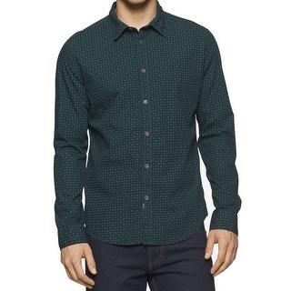 Calvin Klein NEW Green Mens Size XL English Pine Button Down Shirt