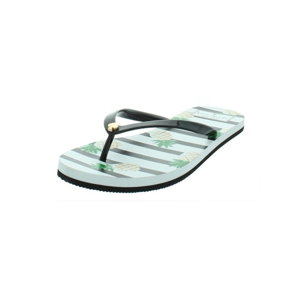 a7ed41c92422 Shop Kate Spade Womens Nassau Flat Sandals Pineapple Striped - Free ...