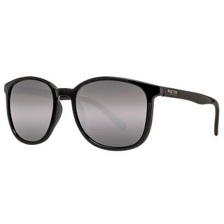 Kenneth Cole Reaction KC1275 01C Women's Black Mirror Grey Square Sunglasses - 54mm-19mm-140mm