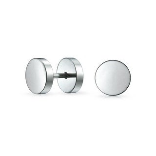 Bling Jewelry Fake Cheater Plugs Earrings Illusion Tunnel Surgical Steel