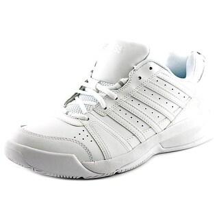 K-Swiss Vendy II Women Round Toe Leather White Sneakers