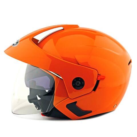 Motorcycle Motor Bike Scooter Safety Helmet 205 - orange