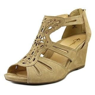 Earthies Morolo Open Toe Leather Wedge Heel