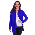 Simply Ravishing Women's Basic Long Sleeve Open Cardigan (Size: Small-5X) - Thumbnail 9