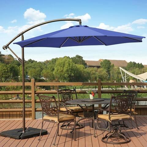 Weller 10 Ft Offset Cantilever Hanging Patio Umbrella