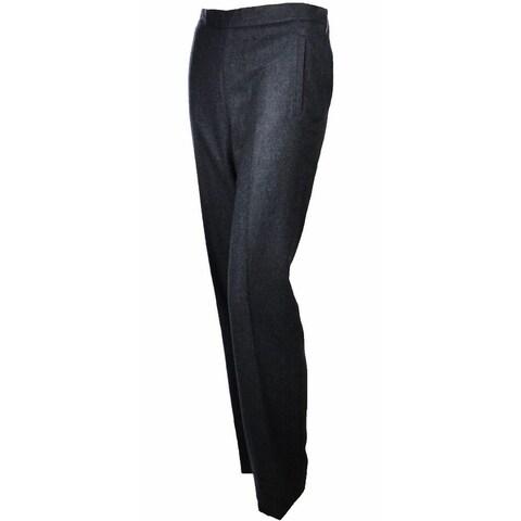 Sutton Studio Womens 100% Cashmere Slim Dress Pants Plus Sizes - Heather Charcoal - 16W
