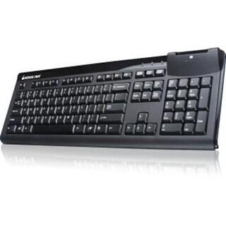 Iogear 104-Key Keyboard With Integrated Smart Card Reader Gkbsr201taa, Black Taa Compliant