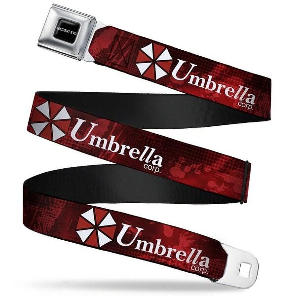 Resident Evil Full Color Black White Resident Evil Umbrella Corp. Logo Red Seatbelt Belt