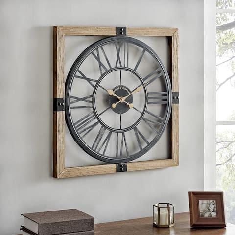 FirsTime & Co. Java Lexington Industrial Clock, Wood