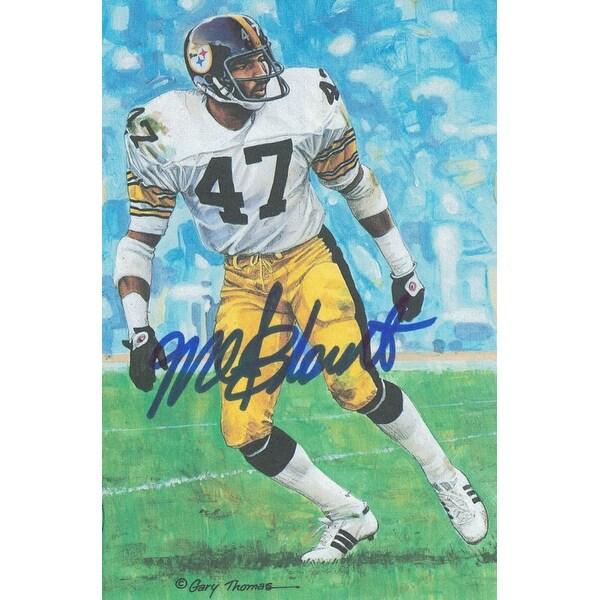 ab082caca Mel Blount Autographed Pittsburgh Steelers Goal Line Art Card Blue JSA