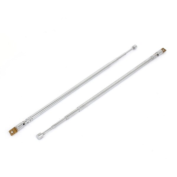 2PCS 62cm 24.4 4 Section Telescopic Aerial Antenna for FM Radio TV DVD
