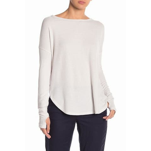 Sweet Romeo Women's Scoop Neck Off White Size Large L Pullover Sweater