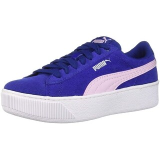 Kids Puma Girls Vikky Platform Jr Low Top Lace Up Walking Shoes