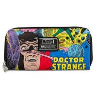 Marvel Doctor Strange Allover Pattern Zip Around Wallet - One Size Fits most