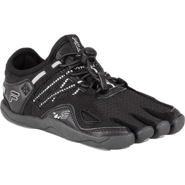 ecf0bb4d25 Shop Fila Children's Skele-Toes Bayrunner 3 Black/Metallic Silver/Pewter -  On Sale - Free Shipping Today - Overstock - 9266784