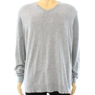 Alfani NEW Gray Zinc Heather Mens Size Large L Knit Pullover Sweater