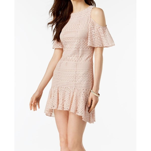 7411fab99fc3cd Shop Julia Jordan Pink Women s Size 14 Lace Cold Shoulder Sheath Dress - On  Sale - Free Shipping On Orders Over  45 - Overstock - 27341609