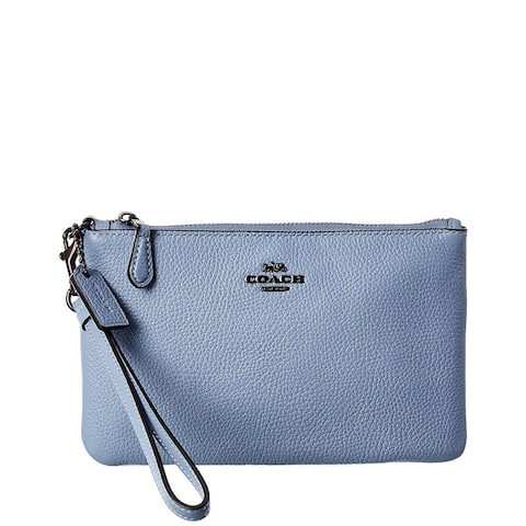 Coach Small Leather Wristlet - NoSize